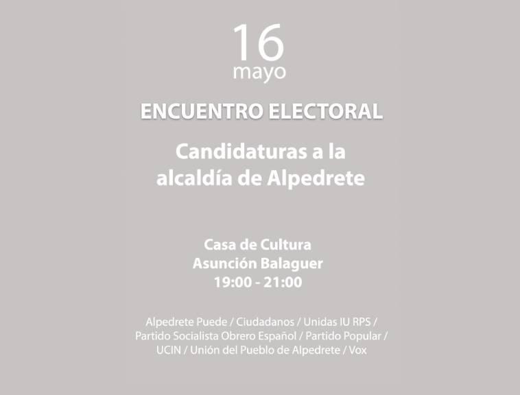 Encuentro electoral de las candidaturas a la alcaldía de Alpedrete